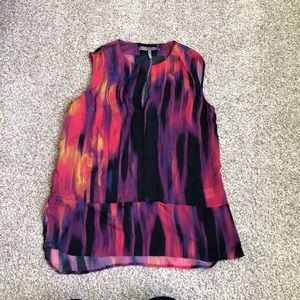 Halston Heritage Silk Sunset Blouse